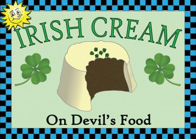 Irish Cream on Devil's Food Cake