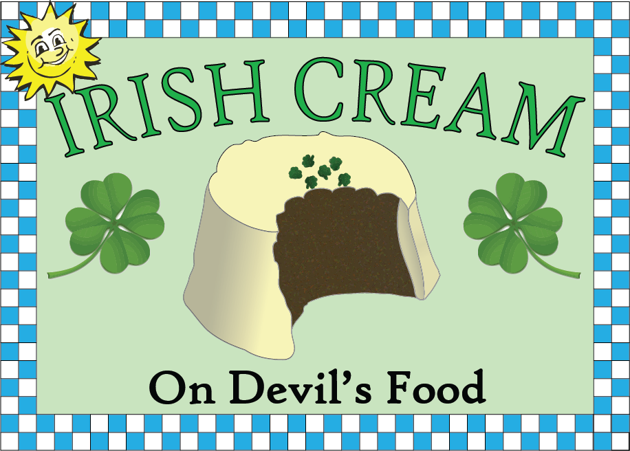 Irish Cream on Devil's Food Cake