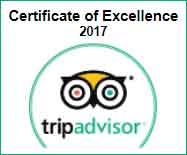Trip Advisor Certificate of Excellence for 2017